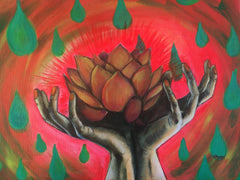 Radiant Lotus Painting by Renee Wiley Edwards