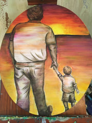 Walk to the Sun Painting by Renee Wiley Edwards