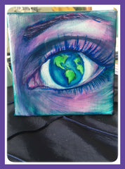 Worldly View Painting by Renee Wiley Edwards
