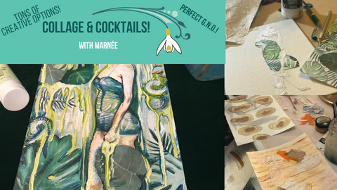 Collage & Cocktails (9.21.18, 6-8pm)