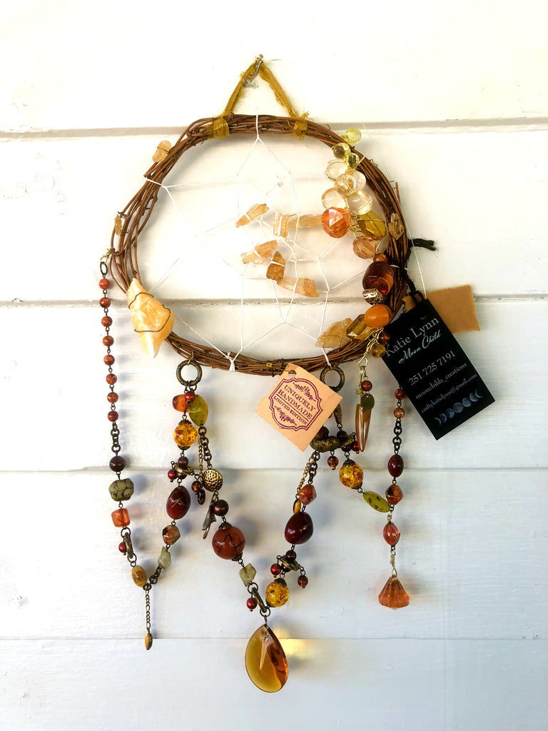 I Dream of Citrine Dreamcatcher