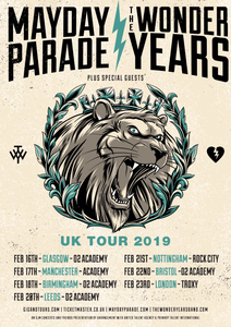 16/02/2019 - Glasgow, UK - O2 Academy - Mayday Parade Ticketless Meet & Greet Upgrade Package