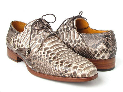Paul Parkman Natural Genuine Python (snakeskin) Ghillie Lacing Dress Shoes