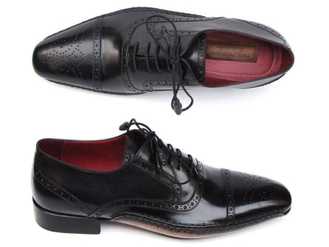 Paul Parkman Captoe Oxfords Black Shoes