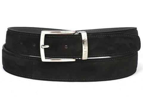 Paul Parkman Black Suede Belt