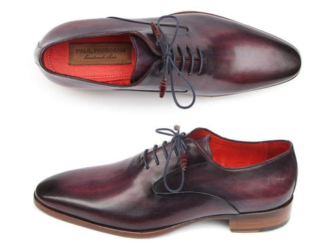 Paul Parkman Plain Toe Oxfords Purple Shoes