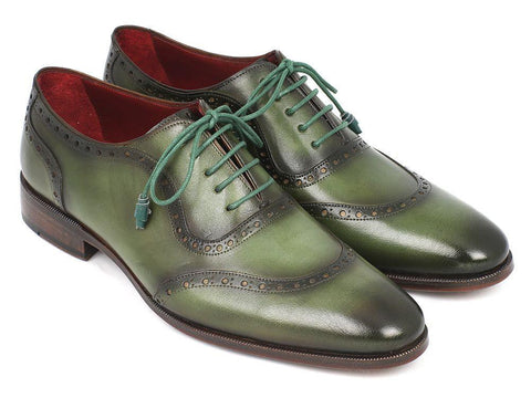 Paul Parkman Green Calfskin Oxfords