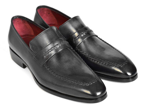 Paul Parkman Gray & Black Loafers