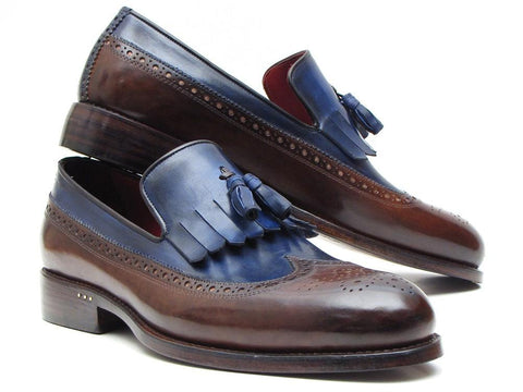 Paul Parkman Kiltie Tassel Loafer Dark Brown & Navy
