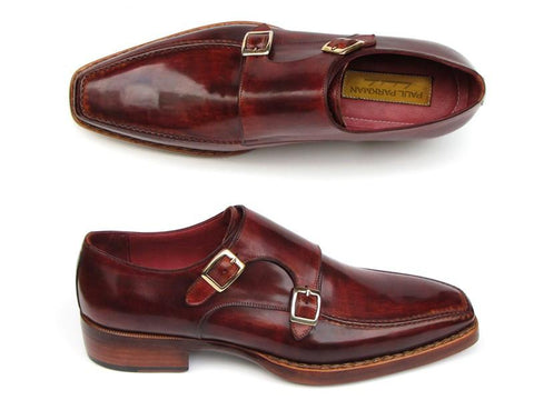 Paul Parkman Double Monkstrap Goodyear Welted Shoes