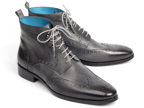 Paul Parkman Wingtip Ankle Boots Gray