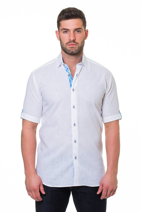 Maceoo shirt - Fresh Powder Linen White