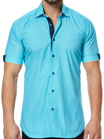 Maceoo shirt - Fresh SS Turquoise Triangle