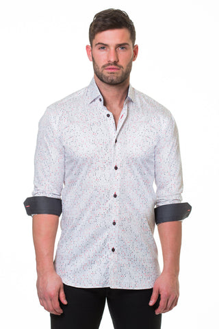 Maceoo shirt - Luxor Binary White