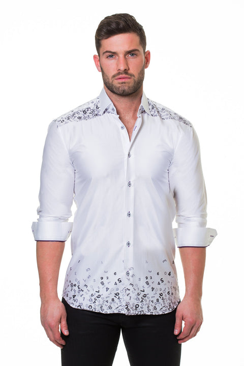 Maceoo shirt - Luxor Counting White