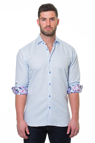 Maceoo shirt - Luxor Diamond Blue