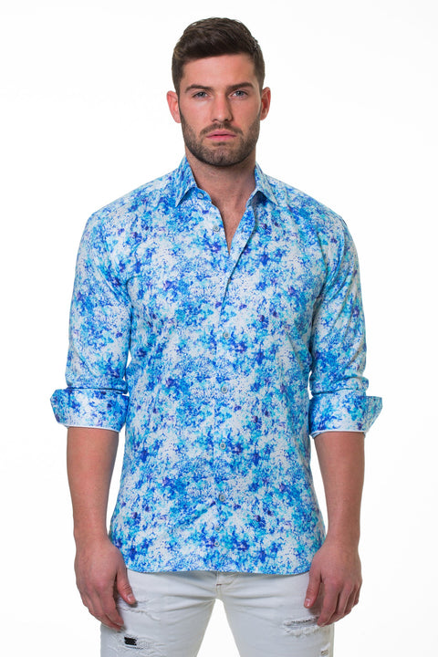 Maceoo shirt - Luxor Noisey Blue