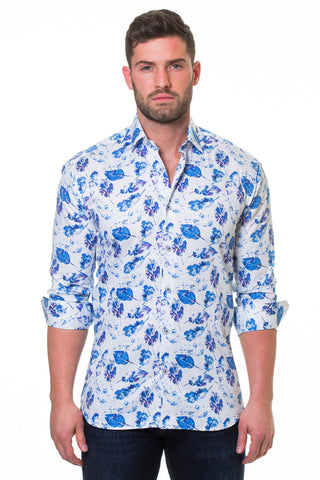 Maceoo shirt - Luxor Peaceful White
