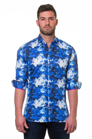 Maceoo shirt - Luxor Shapes Blue