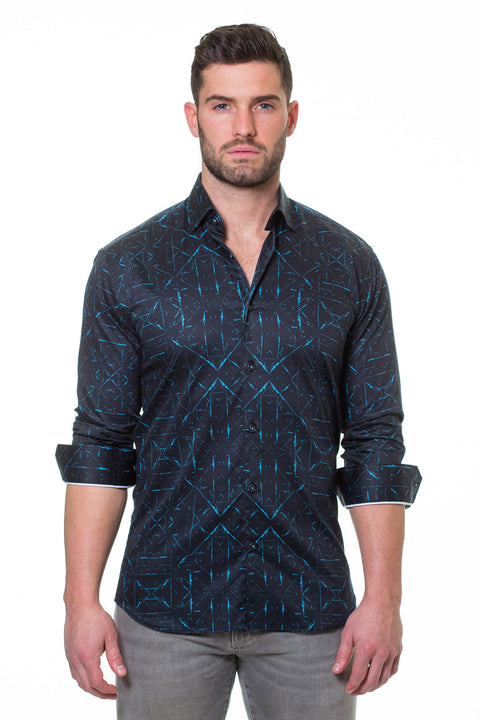 Maceoo shirt - Luxor Sketch Black