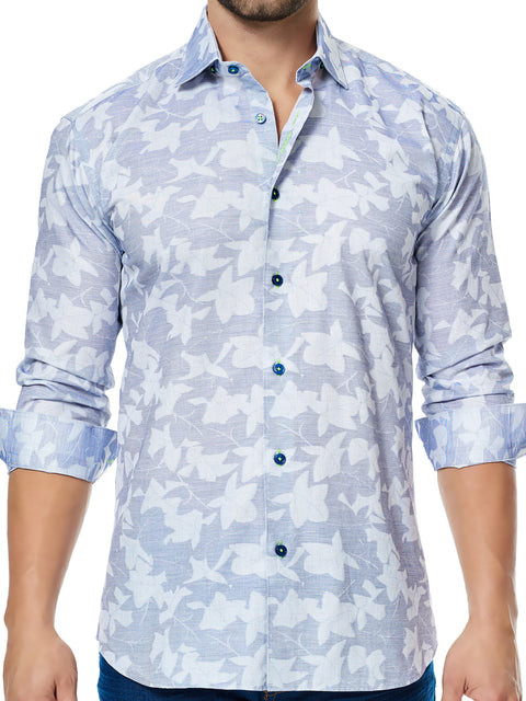 Maceoo shirt - Luxor Leaves
