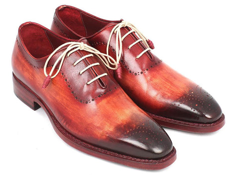 Paul Parkman Reddish Camel Medallion Toe Oxfords