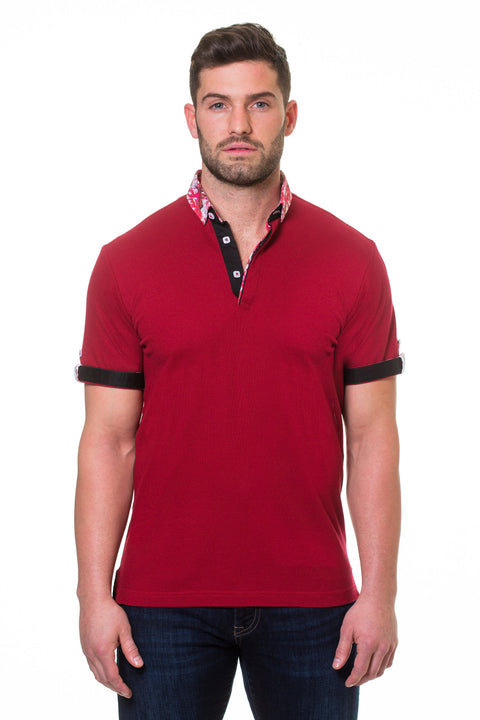 Maceoo Polo S Picque Burgundy