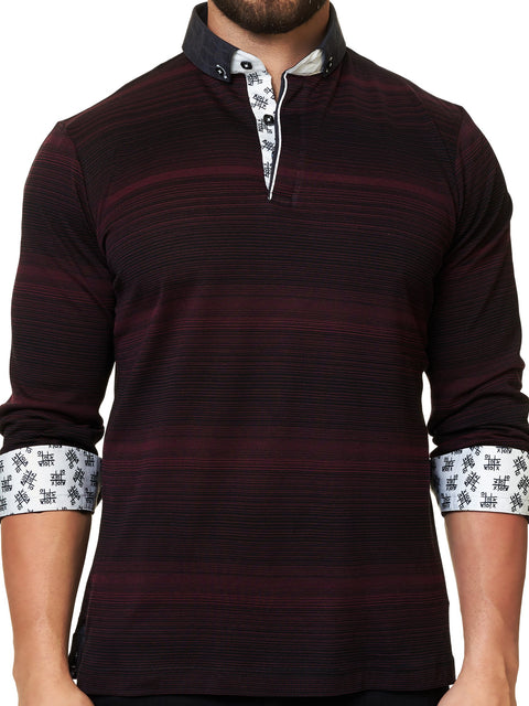 Maceoo Polo shirt - Polo L Ing Black Red