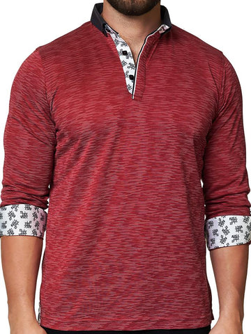 Maceoo Polo shirt - Polo L Line Red Navy