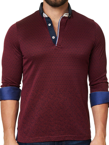 Maceoo Polo shirt - Polo L Triangle Burgundy