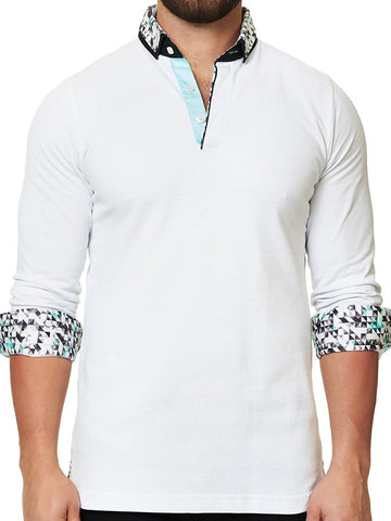 Maceoo Polo shirt - Polo L White Abstract Dc