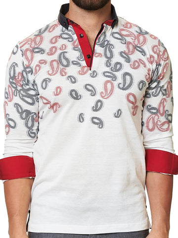 Maceoo Polo shirt - Polo L White Paisley