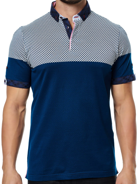 Maceoo Polo S Cross Navy White BC