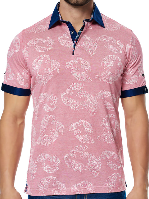 Maceoo Polo S Paisley Orange SC