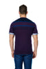 Maceoo V-Neck S Purple Stripe