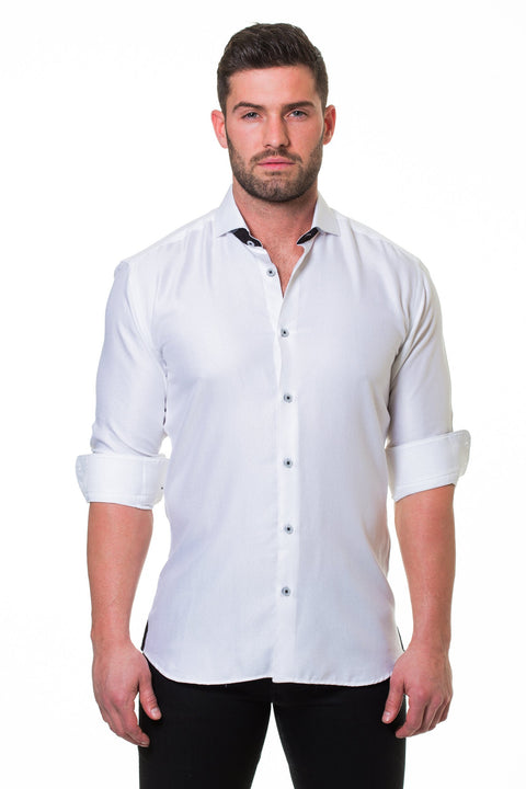 Maceoo shirt - Wall Street Serenity White