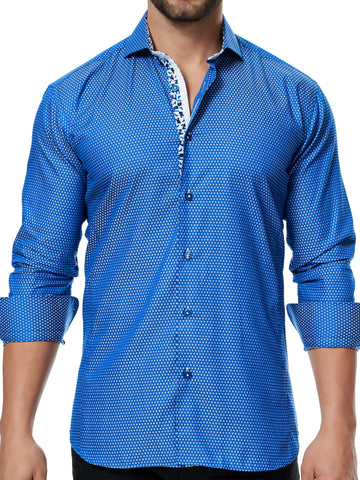 Maceoo shirt - Wall Street Weave