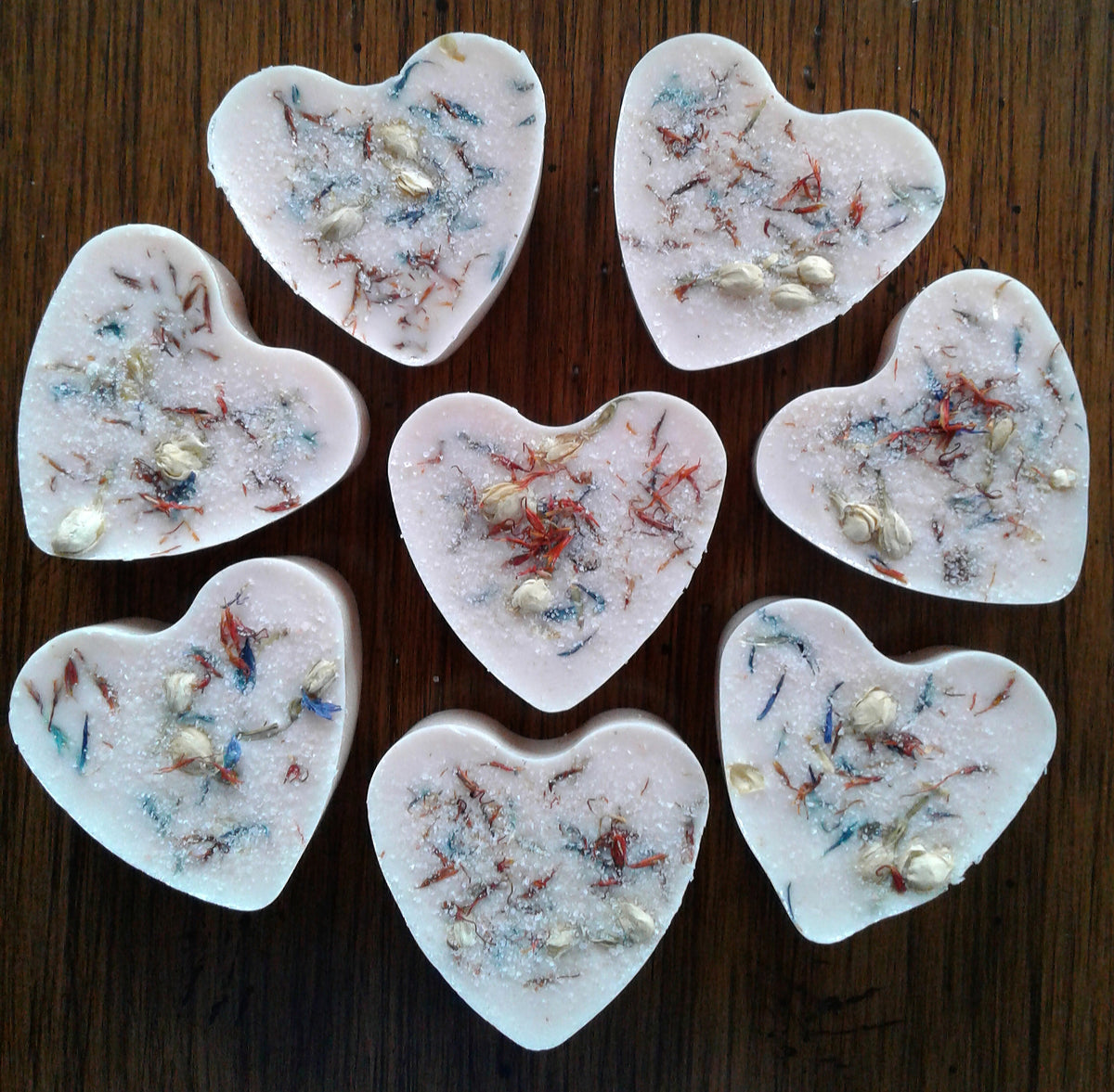 Hearts and Flowers Soap