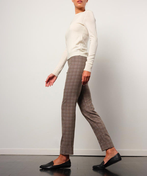FRANCO Flannel Taupe Plaid - AVENUE MONTAIGNE