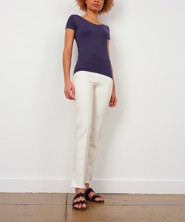 PEGGY White Denim - AVENUE MONTAIGNE