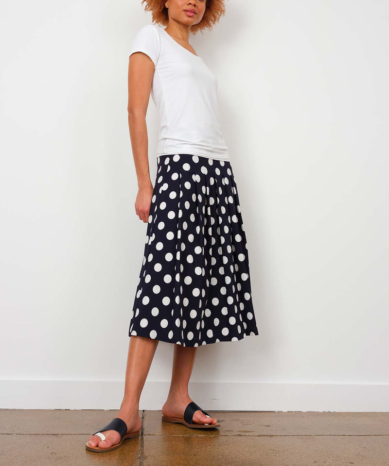 PLEATED SKIRT Polka