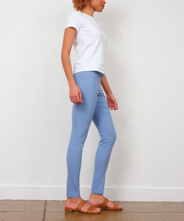 PULL ON SKINNY Heather Chambray