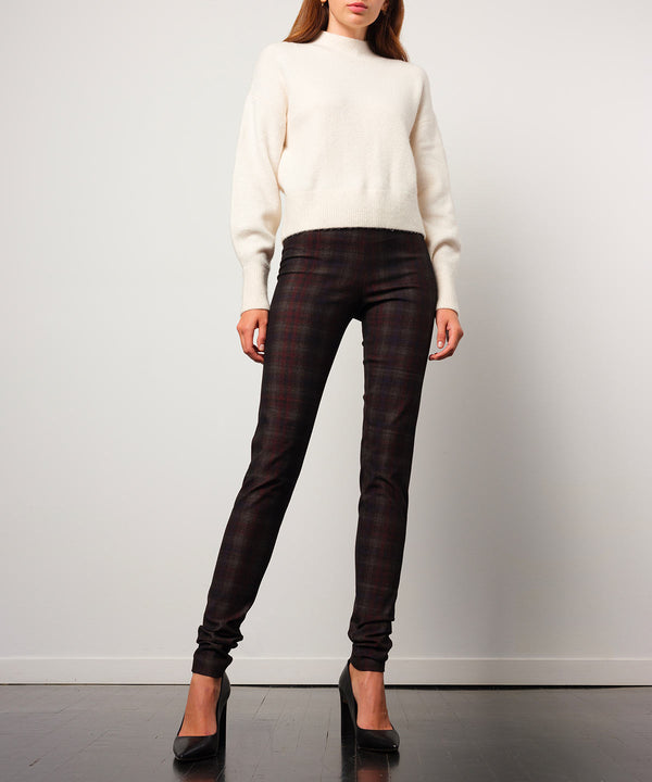 PULL ON SKINNY Flannel Scottish Plaid - Avenue Montaigne