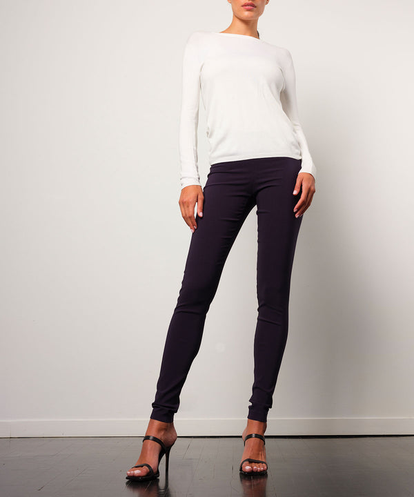 PULL ON SKINNY Signature Navy - Avenue Montaigne