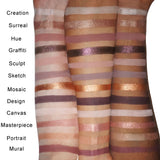 NUDEPOP PRO Eyeshadow Palette Arm Swatches