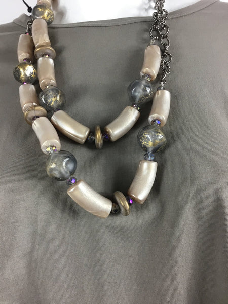 Phyliss Clark Acrylic beads with chain