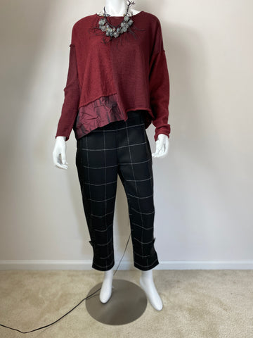 Ozai N Ku Black and White Plaid Pant