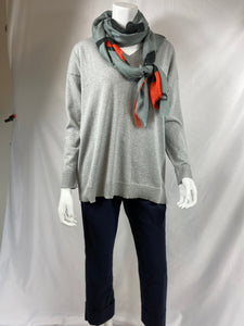 Peter O. Mahler Grey V Neck Sweater
