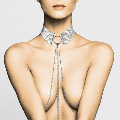 BIJOUX INDISCRETS DESIR METALLIQUE COLLAR - SILVER, GOLD or BLACK