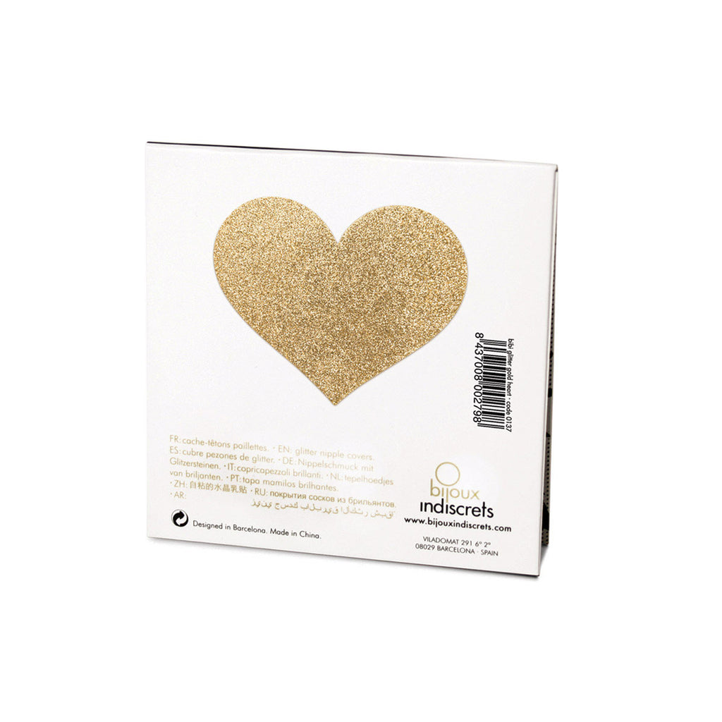 BIJOUX INDISCRETS FLASH PASTIE - HEART GOLD